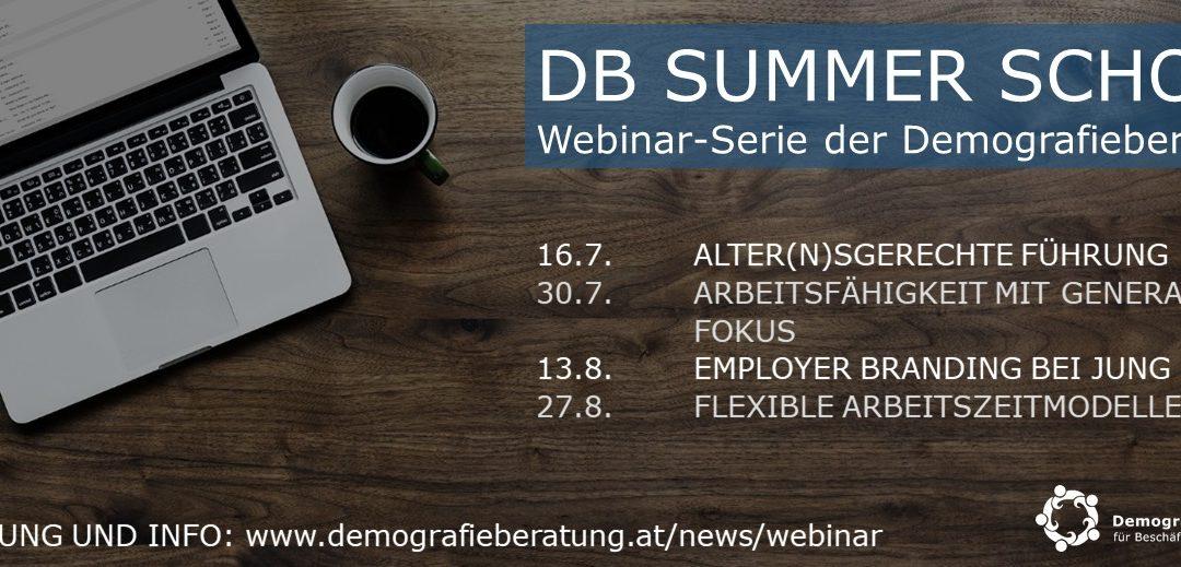 Webinar-Serie der Demografieberatung: DB Summer School
