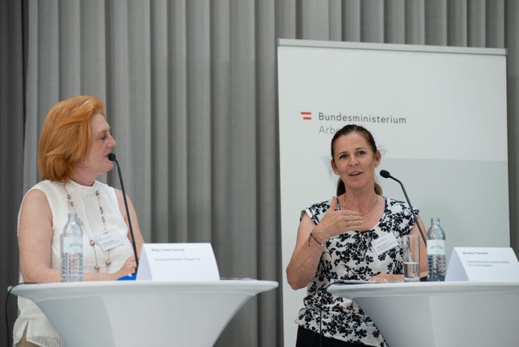 Irene Szimak, Monika Thurnher (c) Daniel Shaked 2021